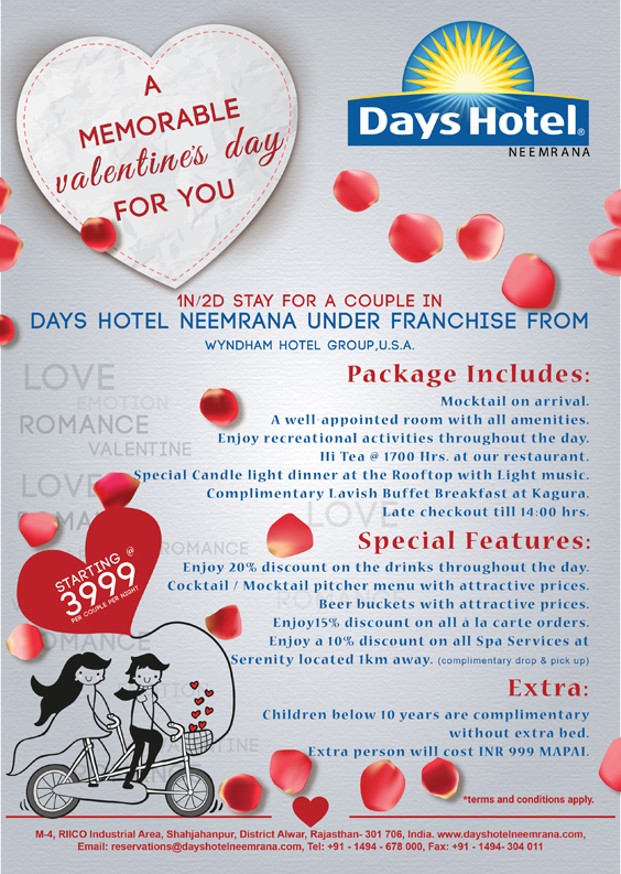Valentines day hotel offers for Valentines day ideas for hotels